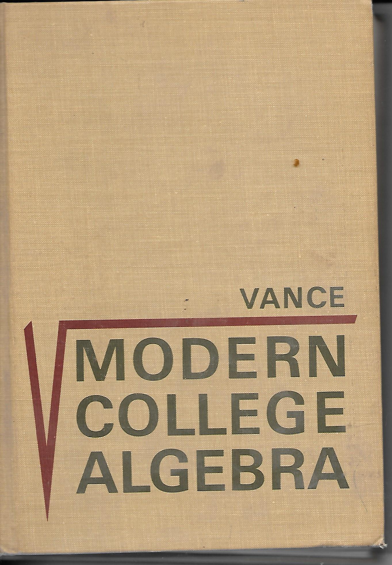 Image for Modern College Algebra