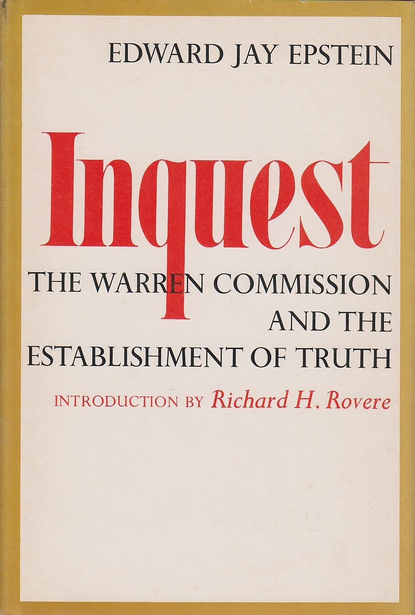 Image for Inquest The Warren Commission and the Estblishment of Truth